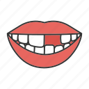 dental, dentistry, missing, mouth, smile, teeth, tooth icon