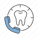 call, clinic, consultation, dental, dentist, handset, phone icon