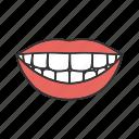 dental, mouth, smile, stomatology, teeth, tooth, woman icon
