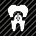 crown, dental, dentistry, fake, prosthesis, restoration, tooth icon
