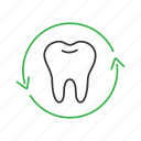 arrow, dental, dentistry, renovation, restoration, teeth, tooth icon