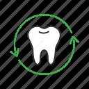 arrow, dental, dentistry, renovation, restoration, teeth, tooth icon