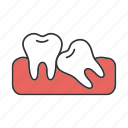 crooked, dentistry, malocclusion, orthodontology, tooth, treatment icon