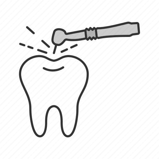 Dental, dentistry, drill, drilling, stomatology, tooth, treatment icon - Download on Iconfinder