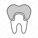 crown, dental, implant, restoration, teeth, tooth, treatment icon