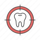 aim, attack, search, target, teeth, threat, tooth icon