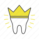 crown, dental, implant, orthodontology, prosthesis, restoration, tooth icon