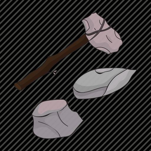 ax, century, period, prehistoric, primitive, stone, tool icon