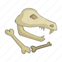bones, century, period, prehistoric, remains, stone icon