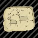 animal, century, drawing, period, petroglyphs, prehistoric, stone icon