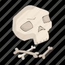 bones, century, period, prehistoric, skull, stone icon