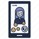 angry, comments, crying, live icon