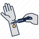 cutter, hand, hurt, painful, scratch, suicide icon