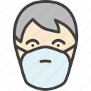 mask, man, respirator, protection