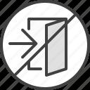 exit, isolation, no, no exit, quarantine icon