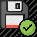 save, check, drive, floppy, storage
