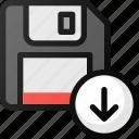 save, download, drive, floppy, storage