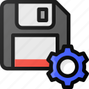 save, settings, drive, floppy, storage
