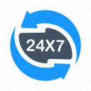 24hrs, 24x7, help, hotline, service, support