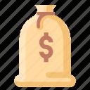 bag, balance, money icon