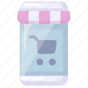 mobile, shopping, store icon