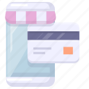 app, credit card, online, payment, shop icon