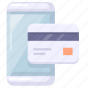 credit card, mobile, payment icon