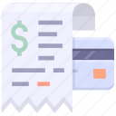 credit card, invoice, receipet icon
