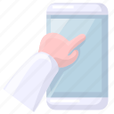 hand, mobile, touch icon