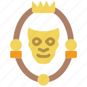 fairy tale, man, mirror, story, time icon