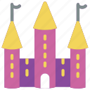 castle, fairy tale, princess, story, time icon