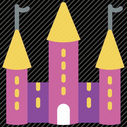castle, fairy tale, princess, story, time icon