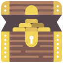 chest, fairy tale, open, story, time, treasure icon