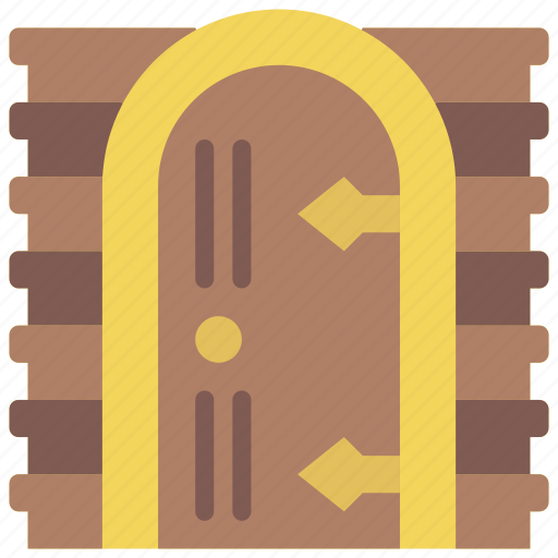 castle, door, fairy tale, story, time icon