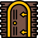 castle, door, fairy tale, story, time, ultra icon