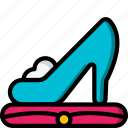 fairy tale, princess, shoe, story, time, ultra icon