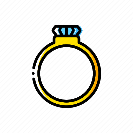 fairy tale, ring, story, time, yellow icon