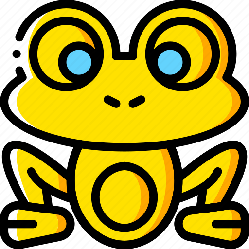 fairy tale, frog, story, time, yellow icon