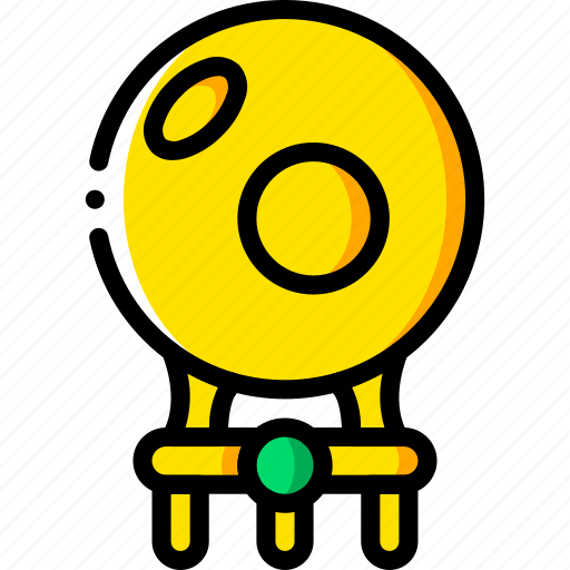 ball, crystal, fairy tale, story, time, witch, yellow icon