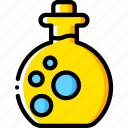 fairy tale, potion, story, time, yellow icon
