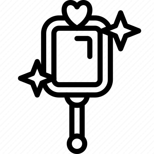 fairy tale, mirror, outline, story, time icon