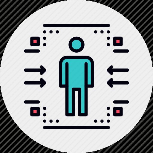 audience, customer, target icon