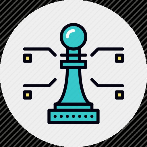 analysis, management, strategic, strategy icon