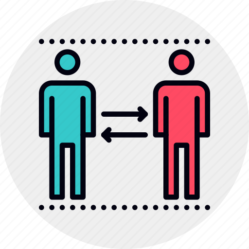 human, personal, resource, rotation icon