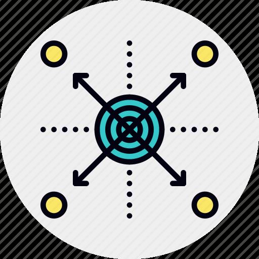 arrangement, market, spread icon