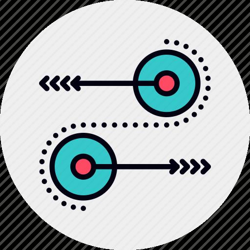 process, synergy, workflow icon