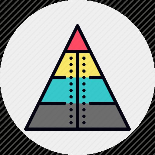 business, model, pyramid, scheme icon