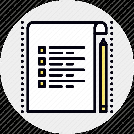 chore, job, list, project, task icon