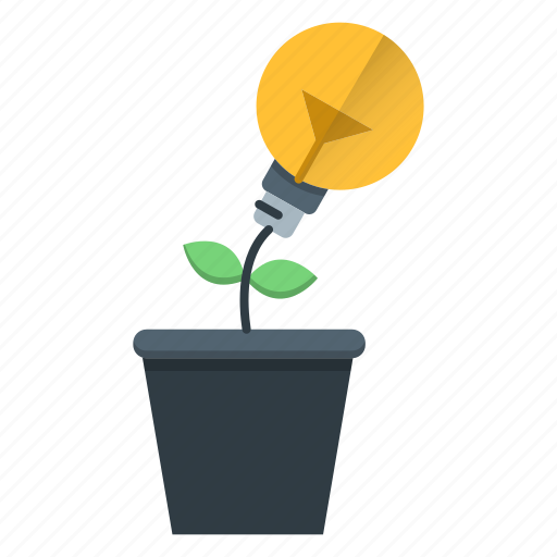 creative, growth, idea, investments, plant, solution icon