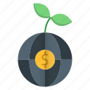 money, global, growth, business, strategy icon